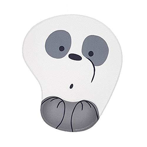 We Bear Bears Computer Laptop Mouse Pad with Wrist Protection (Panda)