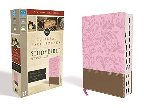 Compare Textbook Prices for NIV, Cultural Backgrounds Study Bible, Personal Size, Leathersoft, Pink/Brown, Indexed, Red Letter Edition: Bringing to Life the Ancient World of Scripture Indexed, Thumbed Edition ISBN 0025986447878 by Zondervan,Keener, Craig S.,Walton, John H.