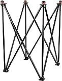 SMT Premium Quality Height Adjustable & Hydrolic Foldable Carrom Board Stand (Black)