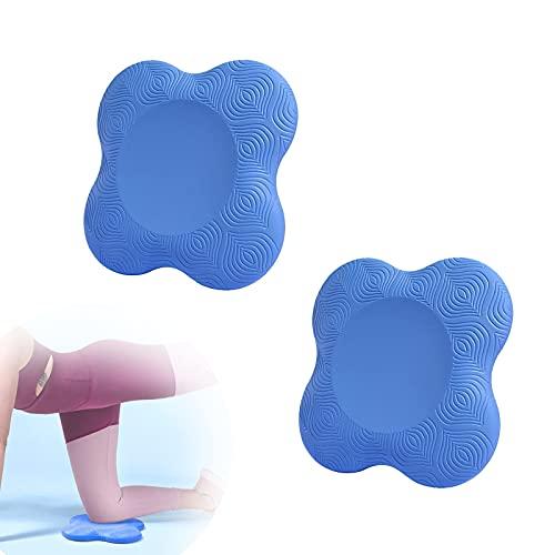 Dulcicasa 2 cojines para las rodillas de yoga, yoga, esterilla de yoga para pilates, fitness, yoga, rodilleras y codos.