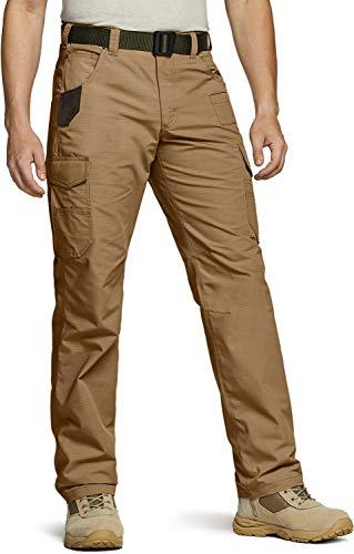 CQR Herren Tactical Hose, Imprägniermittel Ripstop Cargo Pants, Leichte EDC Wandern Arbeitshosen, Outdoor Bekleidung, Twp304 1pack - Coyote, 38W / 30L