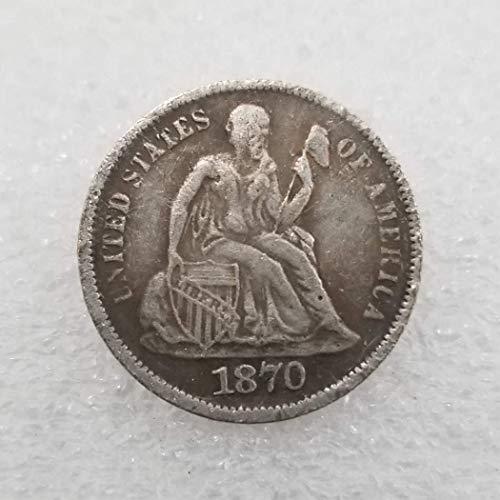 DDTing 1870 Old Liberty - Monedas conmemorativas para niños, herramienta de enseñanza para niños