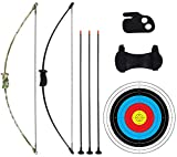 """CPTARCH 40"""" Archery Bow and Arrow Set Takedown Recurve Bow Outdoor Sports Game"""