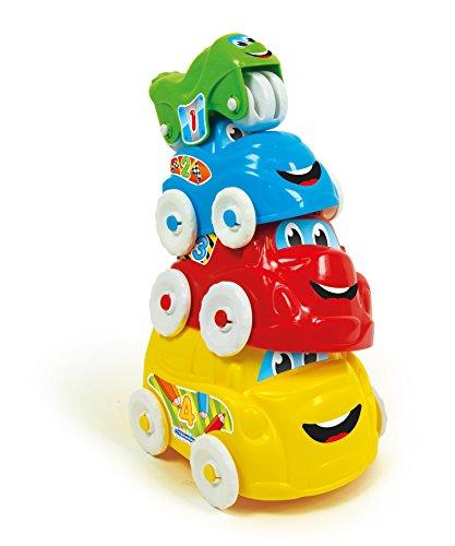 Clementoni 17130 Set de 4 véhicules Multicolores pour Enfants de 6 Mois à 3 Ans, pour Jouer en intérieur