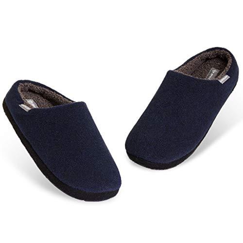 Dunlop Zapatillas Casa Hombre, Pantuflas Hombre De Forro Polar Suave, Zapatillas Hombre Con Suela Antideslizante Interior Exterior, Regalos Para Hombres y Chicos Adolescentes (Azul marino, numeric_43)