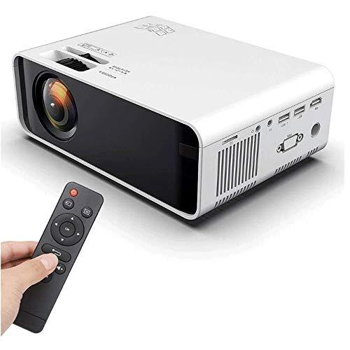Big Shark projector, videoprojector voor thuis en entertainment buitenshuis, ondersteunt 1080p HDMI-ingang, ingebouwde accu, oplaadbaar, stereo-luidspreker Dual USB, HDMI, VGA / interface