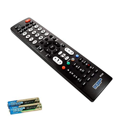 HQRP Remote Control Compatible with Hitachi P42A202 P42H401 P42T501 P50A202 P50A402 LCD LED HD TV Smart 1080p 3D Ultra 4K Plasma