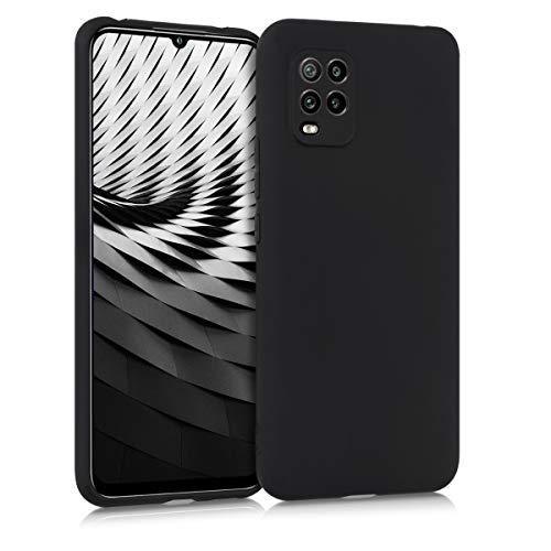 kwmobile Cover Compatibile con Xiaomi Mi 10 Lite (5G) - Cover Custodia in Silicone TPU - Backcover Protezione Posteriore - Nero Matt