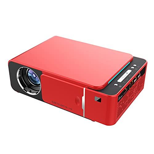 LXLTL Mini Beamer, 30-200 Inchdisplay Home Theater Projector Ondersteuning 1080P HD Mini Draagbare Projector Familie Kinderen Smart Phone Home Cinema Projector,Rojo