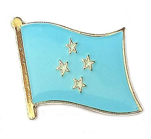 Anstecknadeln, Motiv: Flagge von Mikronesien, aus emailliertem Metall, Souvenir für Hut, Kleidung, Rucksack
