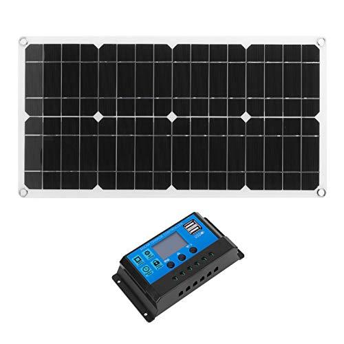 FOLOSAFENAR Cargador Solar para automóvil Panel Solar USB IP65 Resistente al Agua Respetuoso con el Medio Ambiente Durable con Salida Dual USB y CC(20A)