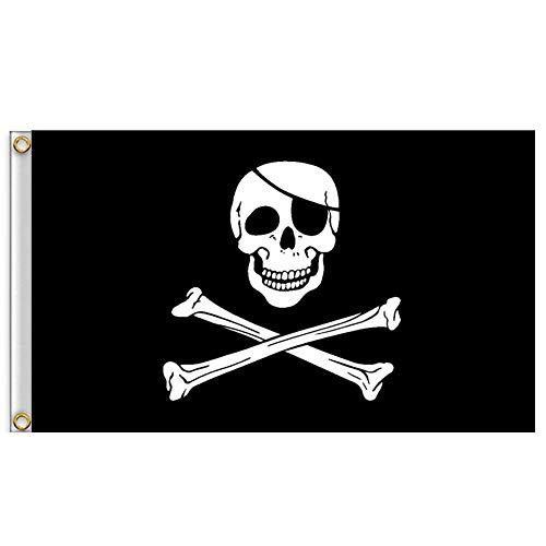Halloween Requisiten 1 Stück Pirat-flaggen Jolly Roger-flagge Mit Messing-tülle Doppelstich Pirat Jack Captain Schädel Schwert Banner Garten Flagge Haus Breeze Dekorationen Für Halloween Dekoration (2