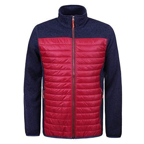 Icepeak Larue Strickjacke Herren, Farbe:Rot, Bitte Größe wählen:56