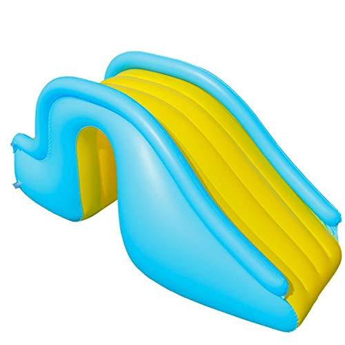 OMGPFR Tobogán Inflable Azul, Toboganes Independientes Fácil de almacenar Alpinismo Juguetes de los niños Pendiente Deslizante de 90 cm de Largo para Hogar Interior niños Pequeño Simple