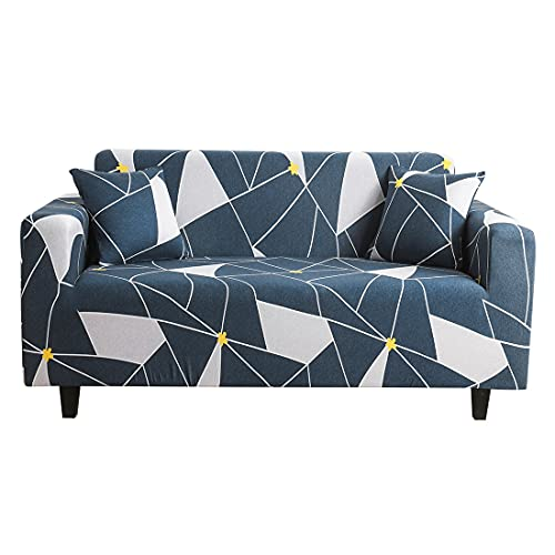 WXQY Pequeño diseño de Flores Frescas Sala de Estar Funda de sofá elástica Todo Incluido Funda de sillón Antideslizante Funda de sofá A4 2 plazas