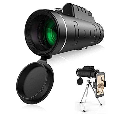 BSJZ Nuestro monocular con Aumento Total de 40x60 y un diámetro de Lente de 45 mm Proporciona una Imagen Clara y Brillante y Disfruta de la Belleza de la Distancia. Equip