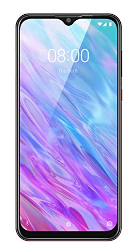 ZTE Smartphone Blade 10 Smart 2020 (16,48 cm (6,49 Zoll) FHD+ Display, 4GB RAM und 128GB interner Speicher, 16,48MP Triple-Kamera mit AI-Technologie, Dual-SIM, Android) black red gradient