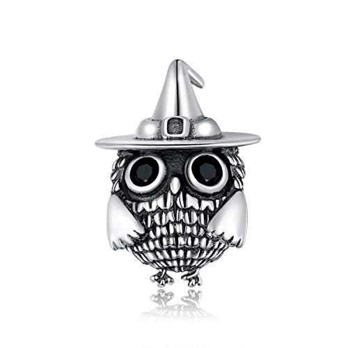 BAMOER Charms Gufo in Argento Sterling 925 Animali Charm...