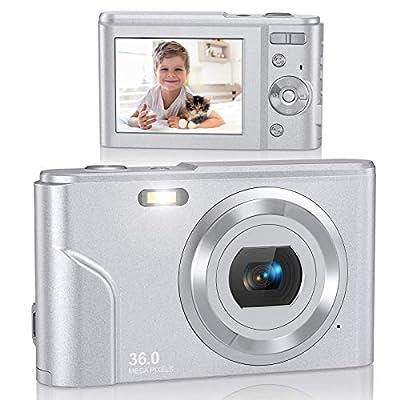 Digital Camera, Lecran FHD 1080P 36.0 Mega Pixels Vlogging Camera with 16X Digital Zoom, LCD Screen, Compact Portable Mini Cameras for Students, Teens, Kids (Renewed) from Lecran