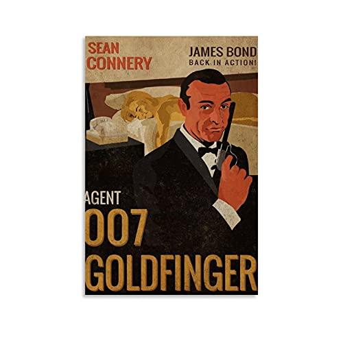 SDFDT Agent 007 Goldfinger - Stampa artistica su tela e stampa artistica da parete, 40 x 60 cm