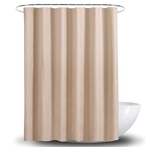 Duschvorhang, Khaki, Vorhang für Badezimmer, aus Polyester, Dicke der Trennwand, wasserdicht, Duschvorhang (Farbe: Khaki, Größe: 180 x 180 cm)