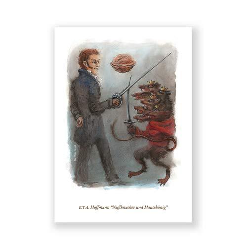 Literatur-Postkarte, Steffen Faust: E.T.A. Hoffmann, Nußknacker und Mausekönig