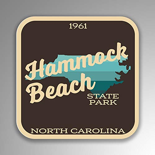 Lplpol Funny 4' Vinyl Decal Sticker Hammock Beach State Park Decal (2 Pack) for Laptop Water Bottle Phone Car