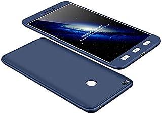 غطاء حماية كامل لهاتف شاومي مي ماكس 2 حماية 360 درجة، 3 في 1 من جي كي كي وغطاء بولي كربونات صلب - لون ازرق