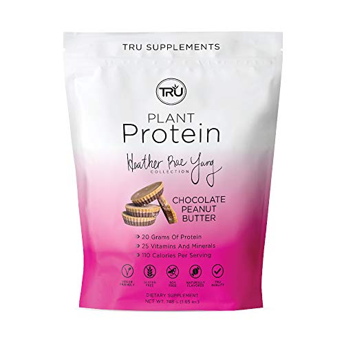 TRU Plant Based Protein Powder, Natural Flavor, Vegan & Keto Friendly, No Artificial Sweeteners, No Dairy, No Soy, 25 Servings (Chocolate Peanut Butter)