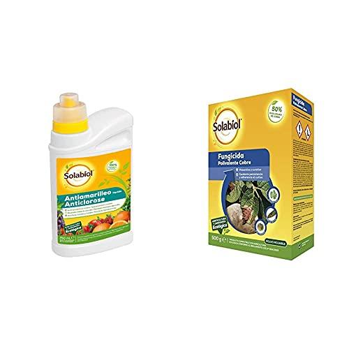 Solabiol Antiamarilleo Líquido para Flores, Hortalizas Y Frutales. + Fungicida Polivalente De Acción Preventiva Y Curativa A Base De Cobre