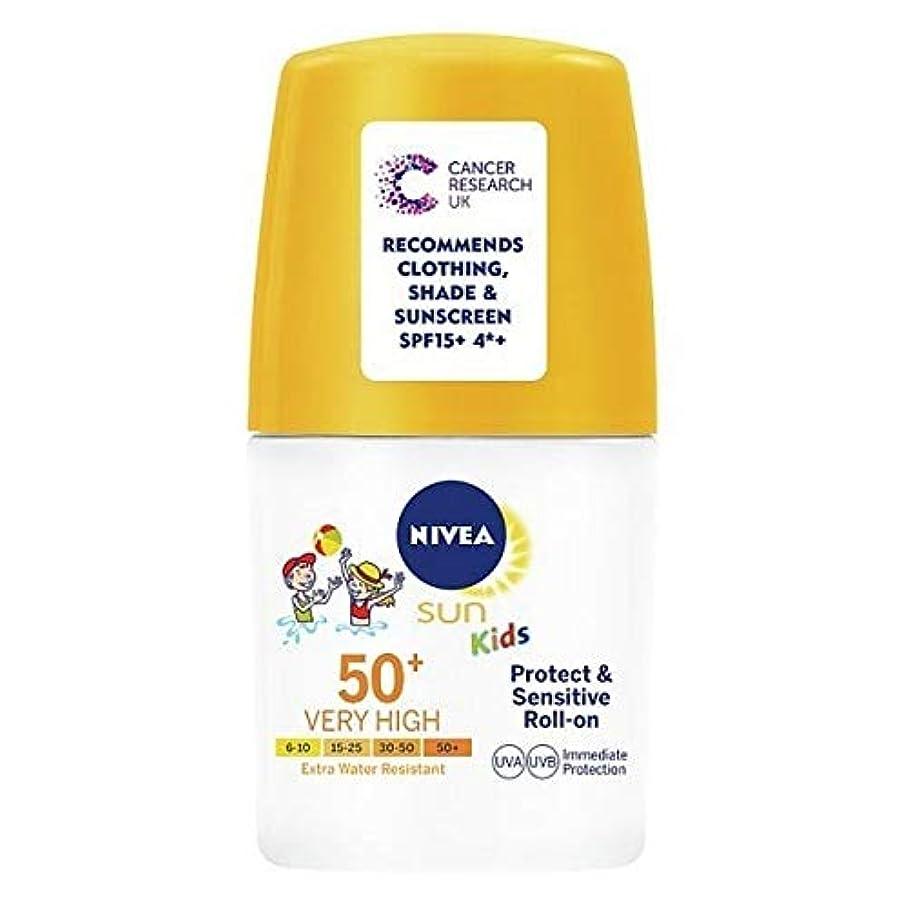 ウィザード惨めなピクニックをする[Nivea ] ニベア日の子供の日焼け止めクリームロールオンSpf50保護&敏感50ミリリットル - NIVEA SUN Kids Suncream Roll-On SPF50 Protect&Sensitive 50ml [並行輸入品]