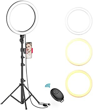 Erligpowht 10 Inch Selfie Ring Light with Tripod Stand & Phone Holder
