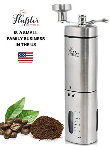 Manual Coffee Grinder – Conical Burr Coffee Grinder - Hand Coffee Grinder Gift...
