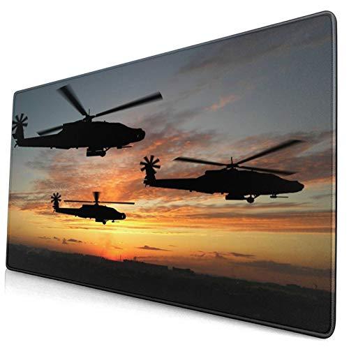HUAYEXI Tappetino Mouse,Tre Elicotteri in Iraq nel Tramonto,Mouse Gaming Grande Pad con Base in Gomma Antiscivolo