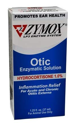 ZYMOX Ear Solution | The Only No Pre-Clean Once -a-Day Dog and Cat Ear Solution | Natural Enzyme...
