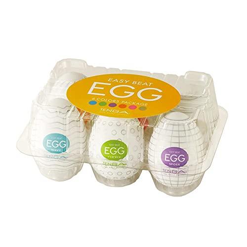 1. Huevos Tenga EGG Pack 6 COLORES | Presión Normal, el recomendado para principiantes