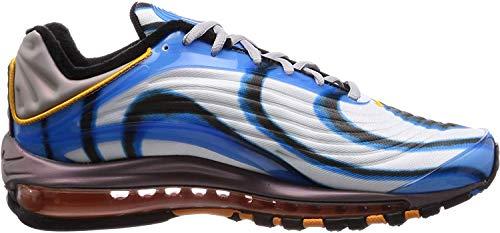 Nike Herren Air Max Deluxe Fitnessschuhe, Mehrfarbig (Photo Blue/Wolf Grey/Orange Peel/Black 401), 44 EU
