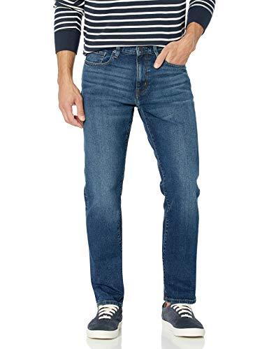 Amazon Essentials - Pantalones vaqueros elásticos de corte atlético para hombre, Vintage Light Wash, 34W x 28L