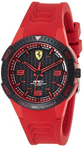 Scuderia Ferrari Orologio Analogico Quarzo Uomo con Cinturino in Silicone 0840033