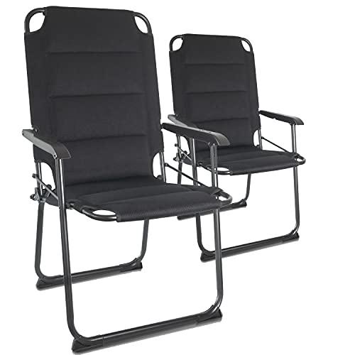 CampAir CampAir Set van 2 Opvouwbare Campingstoelen - Zeer Lichte Klapstoelen van Aluminium