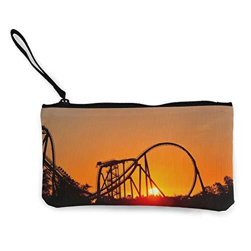 Park Sunset Roller Coaster - Bolsa multiusos para cambio de moneda, para mujer, bolsa de aseo