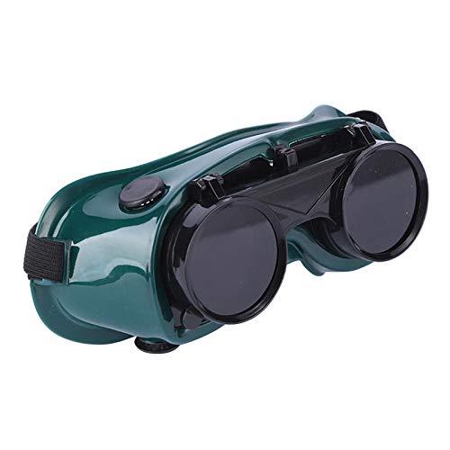 freneci Gafas de soldadura frontales abatibles, gafas soldadoras de protección ocular de seguridad con lentes de 50mm, gafas protectoras usadas para soldar,