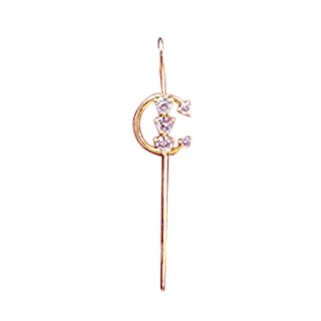 Sdoveb 1PC Women Fashion Eareings Ear Wrap Crawler Hook Earrings (C)