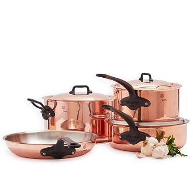 Mauviel 6600.07 Cookware Jacques Pepin Collection. 7 Pc Set 7, 7 piece, Copper