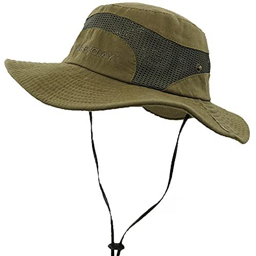 JAOAJ Outdoor Fischerhut Anglerhut,Safari Hut Faltbar Wanderhut,Sonnenhut Herren Damen UV Schutz,Campinghut Gartenhut
