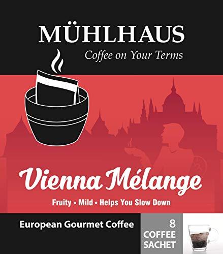 COFFEE SACHET, Vienna Mélange (Fruity and Mild, Ethiopia Yirgacheffe), Worlds Most Advanced Portable Organic Coffee (4 Pack)