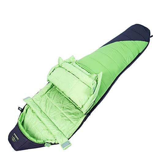 CATRP Durable Maman Sac De Couchage Poids Léger Chaud Sac De Couchage, 4 Saisons Confortable Respirant Super pour Randonnée Camping De Randonnée (Color : Green)