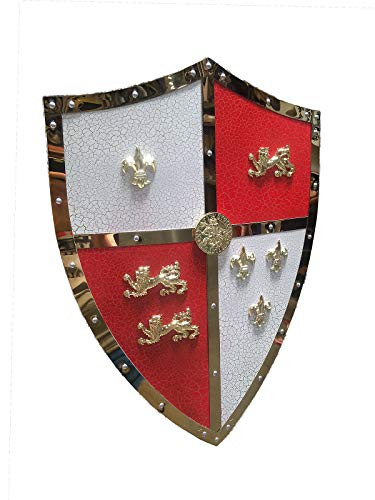 "Swordmaster - 24"" Medieval Royal Crusader Lion Shield Armor with Handle Brand New"