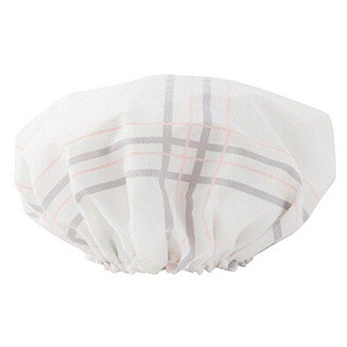 Doubles couches bonnet de bain Bonnet de douche Chapeau étanche Bath Blanc