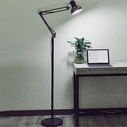 DSM Amerikanische Lange Arm Stehleuchte Wohnzimmerstudie Schlafzimmer LED Piano Fill Light 160cm (Color : Black)